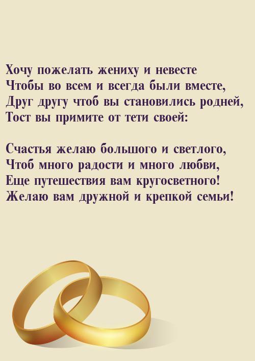 Поздравления свадебные от родных 87