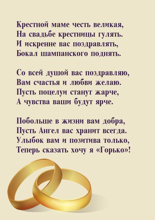 Прикольные поздравления в день свадьбы крестнику 75